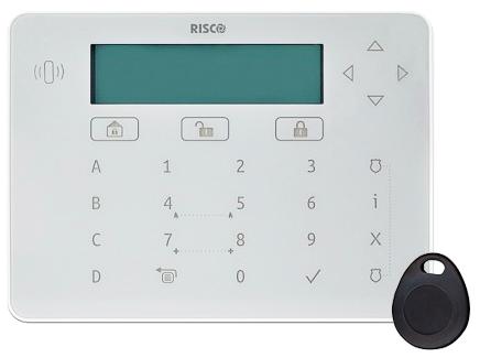 Elegant keypad filaire tactile Risco RPKELP avec lecteur de badge et tag de proximite