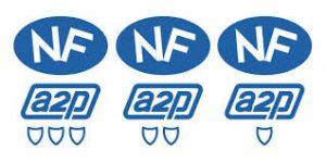 Alarme NFA2P - Logo NFA2P 1 2 3 Boucliers