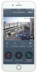Detecteur de mouvement avec camera eyeWAVE Risco smartphone iRISCO